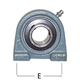 AMI Bearing 2-Bolt Tapped Base 1-1/2in