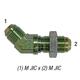 Bulkhead 2702-8 Elbow 45° M JIC 1/2in