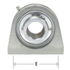 AMI Bearing 2-Bolt Stainless Stl 1-1/4in