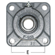 SM-SF19C Bearing 4 Bolt Flange 1-3/16in