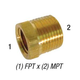Bushing 28-106 Hex 1/2in MPT x 1/4in FPT