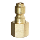 Quick-Disconnect Plug Brass 3/8in FPT