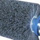 Tire Brush Poly 96in x 8in 4-Bolt Attach