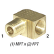 Elbow 28-157 Brass 1/4in MPT x 1/4in FPT