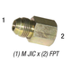 Connector 2405 M JIC 1/2in x 3/8in FPT