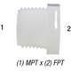 Bushing Nylon 1/2in MPT x 3/8in FPT