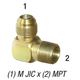 Elbow 2501-8-6 M JIC 1/2in x 3/8in MPT