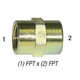 Coupler 5000-12 Hex 3/4in FPT