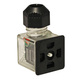 DIN Valve Connector Style A 120VAC Amber