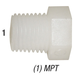 Plug F34 Nylon Hex Head 3/4in MPT