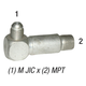 Elbow 2501LL-6-6 M JIC 3/8in x 3/8in MPT