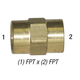 Coupler 28-061 Hex Head Brass 1/2in FPT