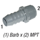 Adapter 1436-007 3/4in Barb x 3/4in MPT