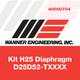 Wanner Kit H25 Diaphragm D25D52-TXXXX