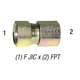 Swivel 6506-8-6 3/8in FPT x 1/2in F-JIC