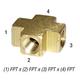 Cross 28-042 Brass 1/4in FPT