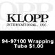 Klopp, 94-9710 Wrapping Tube $1.00
