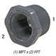 Bushing, 839-101 3/4in MPT x 1/2in FPT