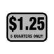 Foil Decal, Deposit $1.25 - 5 Quarters