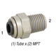 Connector PI011223S 3/8in T x 3/8in MPT