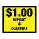 Vinyl Decal, Deposit $1.00 - 4 Quarters