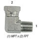 Elbow 1501-6-8 3/8in MPT x 1/2in FPT