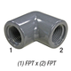 Elbow, 808-002 PVC80 1/4in FPT