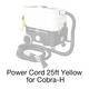 Cobra-H, 495A Power Cord 25ft Yellow
