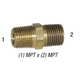 Nipple 28-211 Hex 1/8in MPT x 1/8in MPT