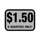 Foil Decal, Deposit $1.50 - 6 Quarters
