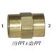 Coupler 28-059 Hex Head Brass 1/4in FPT
