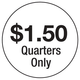 Vend Decal Overlay $1.50 Quarters Only