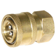 Quick-Disconnect Socket Brass 3/8in FPT