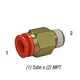 SMC KQ2H11-35AS Connector 3/8