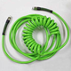 Poly, Spiral Hose 1/4in x 25ft Lt Green