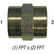 Coupler 5000-16-12 1in FPT x 3/4in FPT