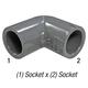Elbow, 806-007 PVC80 3/4in Slp
