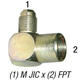 Elbow 2502-8-8 M JIC 1/2in x 1/2in FPT