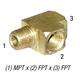 Tee 28-246 ST Brass 1/4 MPT x 1/4 FPT