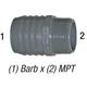 Adapter 1436-020 2in Barb x 2in MPT