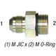 Connector 6400-8-10 JIC 1/2 x 5/8 O-Ring