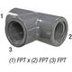 Tee 805-002 PVC80 1/4in FPT
