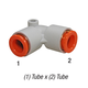 SMC KQ2L11-00A Union Elbow 3/8in Tube