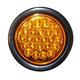 Round 4in Light Strobe, LED Amber w/Plug