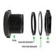 Bulkhead Nylon Fitting 1in FPT