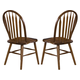 Liberty Furniture Nostalgia Arrow Back Windsor Side Chair in Medium Oak Finish 10-C553S (Set of 2)