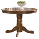 Liberty Furniture Nostalgia Round Pedestal Table in Medium Oak Finish 10-T510