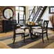 American Drew Camden 5-Pc Round Table Dining Set in Black