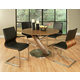 Pastel Furniture 5pc Indiana Round Dining Room Set with Charlize Side Chair in Stainless Steel