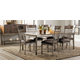 Standard Furniture Hudson 7 Piece Rectangular Leg Dining Set in Rustic Dark Cherry